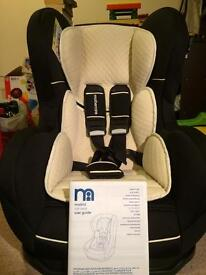 Brand new Mothercare Madrid Combination Car Seat, black and beige