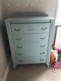 Stunning hand painted chest of drawers
