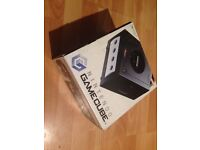 Nintendo GameCube boxed black console controller and game