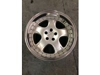 "FK automotive deep dish alloy wheels 5x100 17"" wide alloys 9j and 10j"