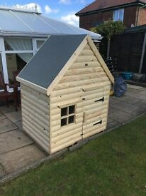Timber Playhouses For Sale 900mm Deep x 1200mm Wide sheds Made From Decorative Log free assembled