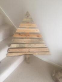 Vintage shabby chic rustic Christmas tree