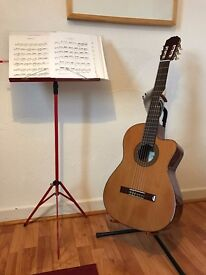 Aria AC35CE pro level electro-classical guitar - Spanish made under Shiro Akai - priced to sell