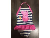Peppa Pig Girls Swimming Costume Size 5-6 Years new