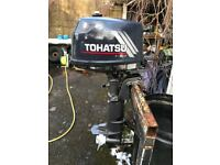 Tohatsu 4 hp short shaft 4-stroke outboard motorin very good condition