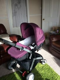 Mothercare aubergine travel system