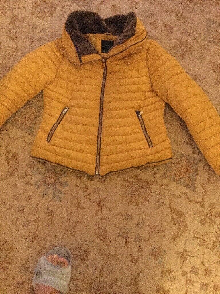 Zara winter jacket xl suit size 14