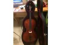 1/2 size students cello with bow £90 (Rather battered hard case FREE)