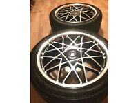"4x 18"" Wolfrace Blitz 2 Alloys and tyres (5x112 Audi, VW, Seat, Ford, Merc)"