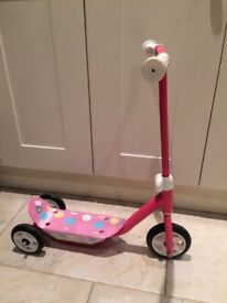 Pink spotty scooter