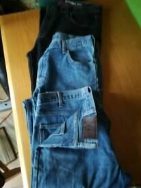 3 x Men's Jeans. 36/38 waist 32 leg