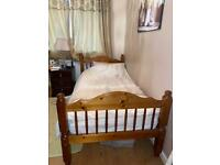 2x WOODEN SINGLE BED