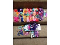 My little pony dolls and car