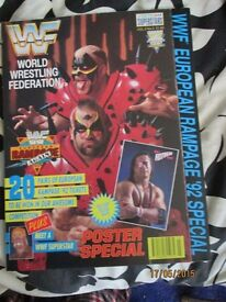 RARE WWE/ WWF WRESTLING SUPER STARS POSTER MAGAZINE LOD ON COVER HAVE OTHERS FOR SALE