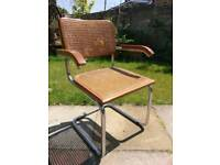 5 x Chrome and Rattan Cantilever Chairs inspired by Marcel Bruer for Thonet *OPEN TO OFFERS*