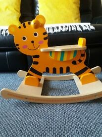Wooden Rocking tiger