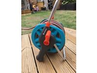 Large garden hose and reel