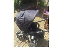Pram rear and forward facing with or without car seat