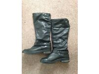 Ladies size 8, black knee high boots
