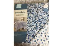 Single duvet cover and pillow case brand new blue