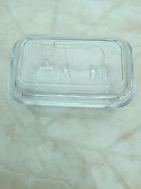 Glass Butter Container with lid