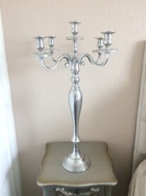 Lovely large silver candlearbra ,