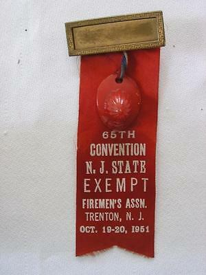 FIREMEN'S ASSN. 65TH N. J. STATE CONVENTION, 1951, MEDAL AND RIBBON