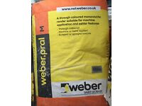 10 bags of Weber Saint Gobain Render £80