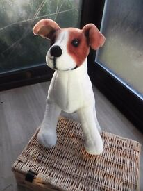 "MELISSA AND DOUG JACK RUSSELL PLUSH TOY. 20"" X 14"" X 8"" ......... collect Kesgrave £20"