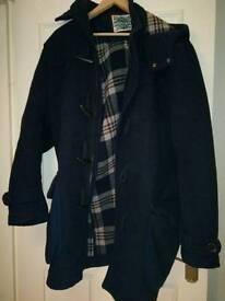 Men's XL Navy Blue Duffle Coat with hood