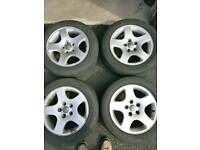 95/97 Audi A4 alloys and tyres