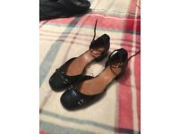 Next Navy bar top shoes size 6