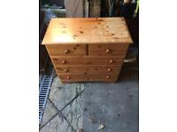 2 over 3 pine chest of drawers can deliver
