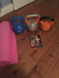 Fitness dvd and kettlebells