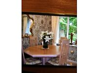 Limed Oak Dining Table & 4 Chairs