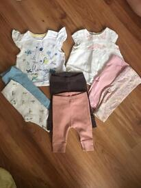 Baby girl bundle mamas and papas mothercare newborn 0-3 months