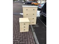 Solid wood chest of draws set