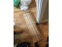 Venetian wood blind 100cmx250cm 4cm slats