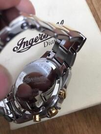 Ingersoll 1 ct diamond men's watch