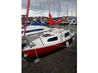 Seawych 19ft sailing boat