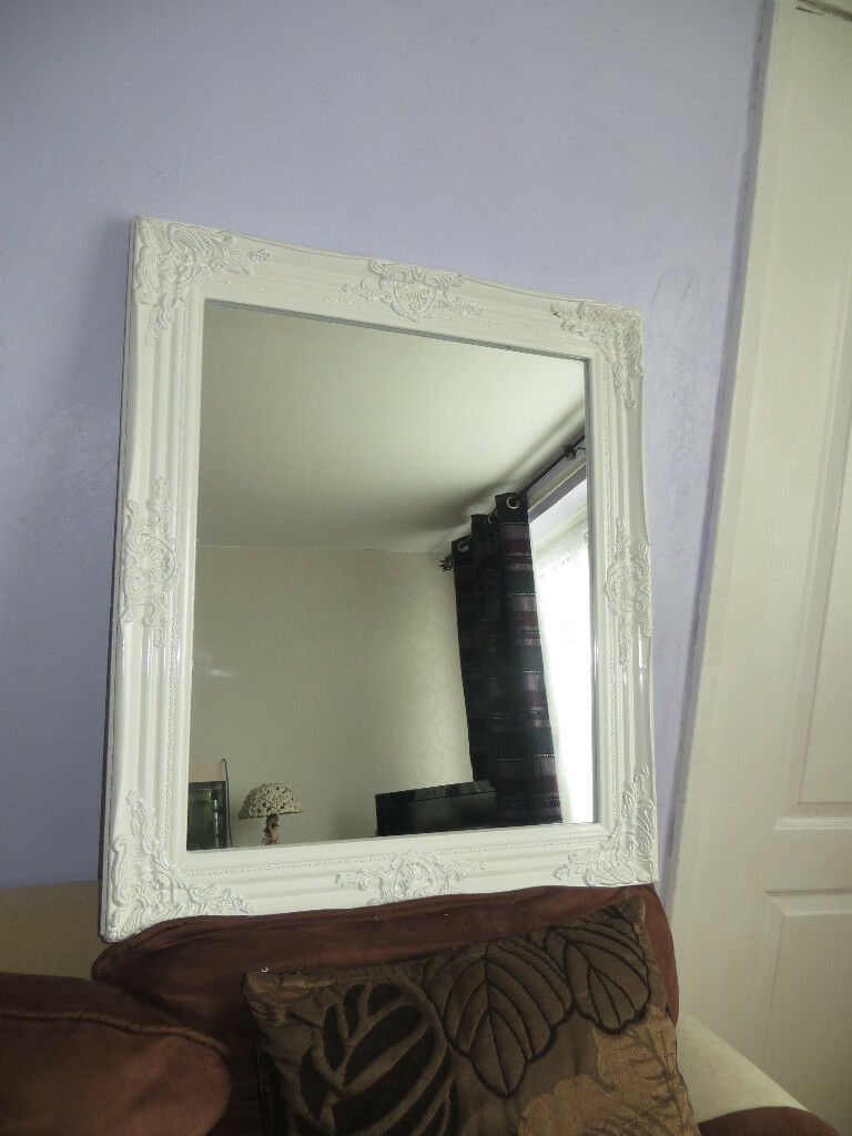 ornate mirror white modern mirror shabby chic. ornate mirror white modern mirror shabby chic  in bolton