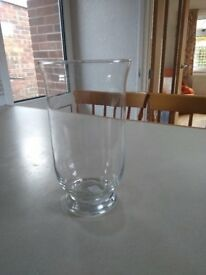 Glass 'Hurricane' Vases (4) Suitable Wedding Decoration - Candles Flowers etc