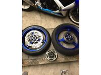 Gsxr wheels and new super corsa tyres.
