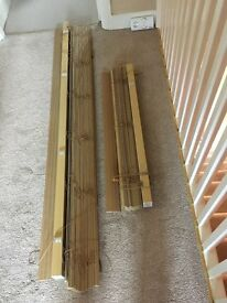 One Large One small Wooden Effect Venetian Window Blinds by Hilarys