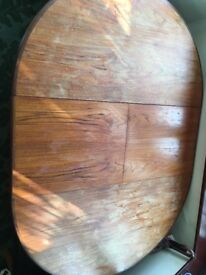 """Solid wood extendable G plan 48""""x48"""" round table. Well used but good condition."""