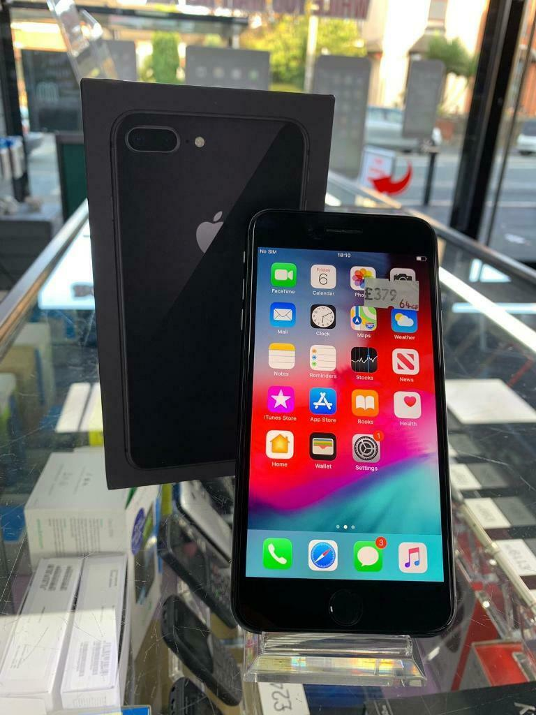 iPhone 8 Plus, 64gb, Black, Unlocked, Good Condition, Boxed With  Accesories, Warranty, £379 | in Bolton, Manchester | Gumtree