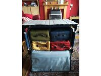 Folding camping kitchen unit with cary bag