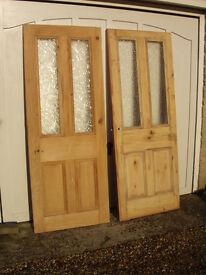 Two stripped Pine Doors
