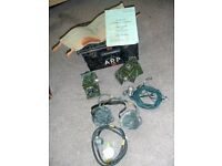 arp box and contents as in pic. CLAPPER. WAR MASK. RUSSIAN HAT. ETC