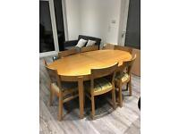 Ikea Extending Dining Table and Six Chairs